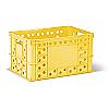 Пищевой пластиковый ящик тип В 324 для хлебобулочных изделий