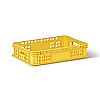 Пищевой пластиковый ящик тип Н для хлебобулочных изделий