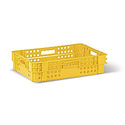 Пищевой пластиковый ящик тип ПЛ1 для хлебобулочных и кондитерских изделий